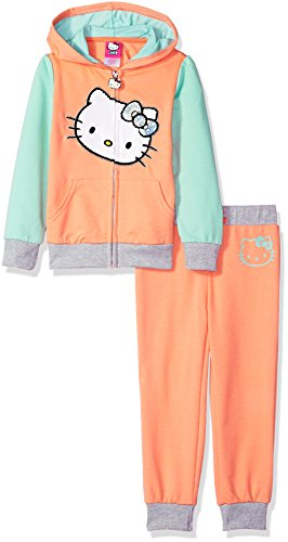 Hello Kitty Baby-Mädchen Girls' 2 Piece Embellished Active Hosen Set, Korallen/Minze, 24M US