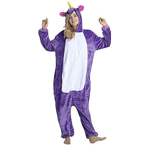 Fantasia Pijama Cosplay de Unicórnio Roxo com Capuz Original tamanho:1,71-1,80 cm (G)