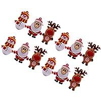 Amosfun 15ピースクリスマスキーホルダーキーリングサンタクロース雪だるまトナカイバッグ財布チャ??ームクリスマスパーティー好意ギフトバッグフィラー