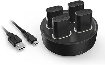 TwiHill O carregador de bateria é adequado para o controlador sem fio da série XBOX, estação de carregamento portátil do c...