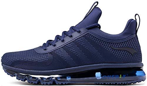 ONEMIX Scarpe da Ginnastica da Uomo Corsa Sportive Fitness Running Sneakers Basse Interior Casual all'Aperto 1191 Blu Scuro 42