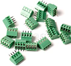 5 Pole DBParts 10pcs 5-Pin Plug-in Screw Terminal Block Connector 2.54mm 0.1 Pitch Panel PCB Mount DIY