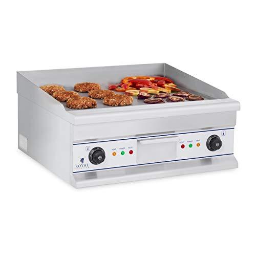 Royal Catering RCG 60S Plancha Grill Electrica Cocina Parrilla Electrica Industrial (2...