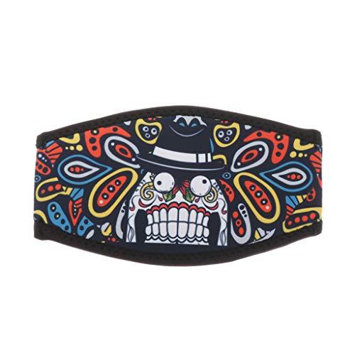 SM SunniMix Maskenband Neopren Maskenschutz 18 x 10 cm für Taucherbrille Tauchmaske - Zähne