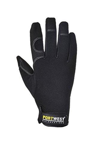 Port-West Allzweck Hochleistungs-Handschuhe, Handschuhe, Montage, KFZ, Handwerker (XXL, schwarz)