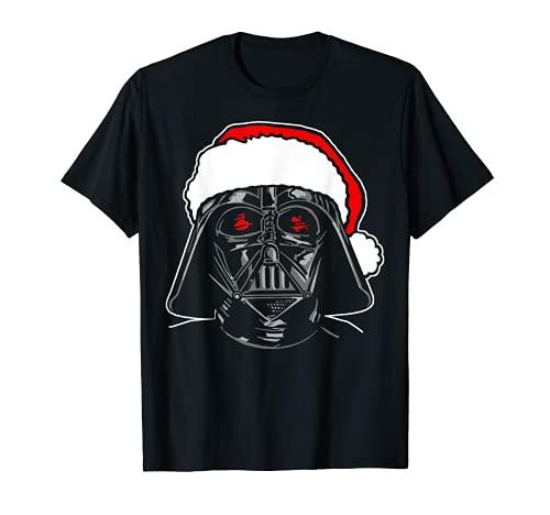 Star Wars Santa Darth Vader Sketch Christmas Graphic T-Shirt