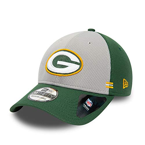 New Era Green Bay Packers 39thirty Stretch Cap - NFL 2020 Sideline Home - Green/Grey - S-M (6 3/8-7 1/4)