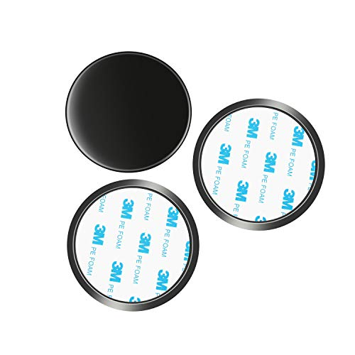 """Lots Off 3 Pack of 3.15"""" (80mm) Adhesive Mounting Disk for Car Dashboards GPS Smartphone Dashboard Disc(Compatible with Garmin Nuvi Magellan GPS & iPhone Smartphone Mount)"""