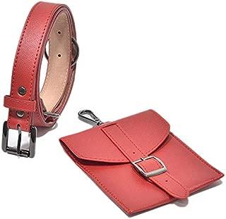TOOGOO Fashion Lady Bag PU Waist Bag Waist Bag Wallet Holder Women'S Vintage Belt Bag Red