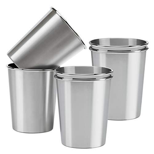 powerful Ruisita 6 Pack 12 oz Stainless Steel Pint Cup Children's Metal Shatterproof Beverage Cup…