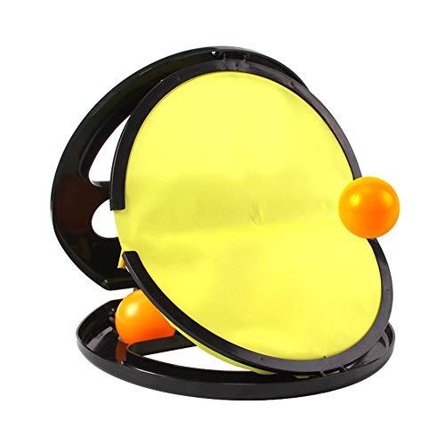 CHENG Paddel-Tennis-Spielzeug-Kugel, Fangen Sie Den Ball Im Freien Eltern-Kind-Fitness-Spielzeug-Kugel Adult Indoor Throwing Ballsport Hand-Griff-Kugel-Schläger Geeignet Für Outdoor