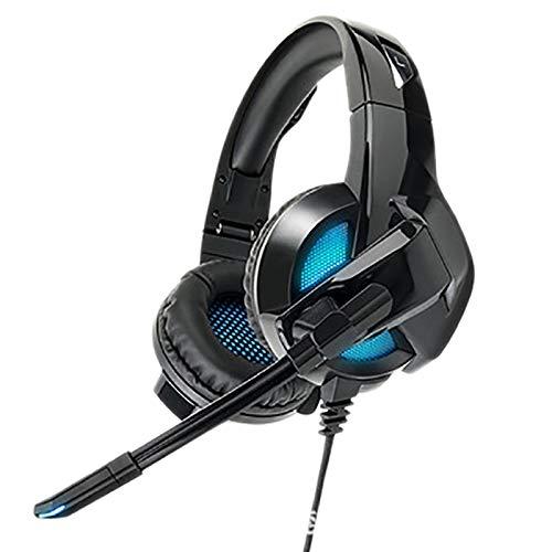 Gaoominy Auriculares para videojuegos plegables con micrófono, para ordenadores, portátiles, PS4