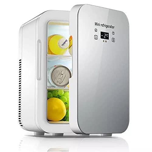 Zxqiang 12L Refrigerador Portátil para Automóvil,Minicongelador con 3 Espacios De Almacenamiento para Maquillaje para El Cuidado De La Piel,con Funciones De Refrigeración Y Calefacción