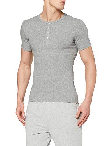 Schiesser Herren Shirt 1/2 Arm Unterhemd, Grau (202-grau-mel.), 6