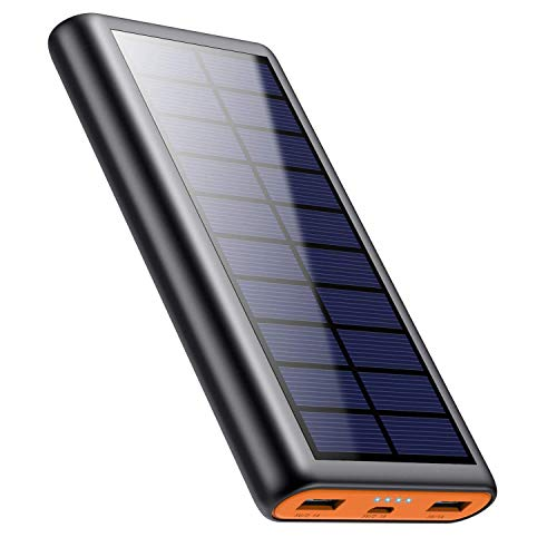 Solar Charger Power Bank 26800mah, 2 USB Output Fast Phone Portable Charger Power Bank Cell Phone Solar Battery Bank Pack External Backup Pack for iPhone, Samsung Galaxy Android, iPad Tablet