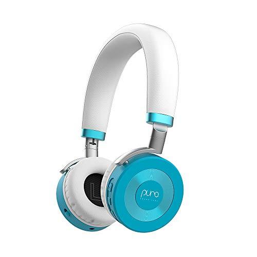 Puro Sound Labs | klappbare u. verstellbare Bluetooth-Kinderkopfhörer (ab 3 Jahren) mit Mikrofon u. Lautstärkebegrenzung zum Gehörschutz, für Tablets, Smartphones u. PCs | 22 h Akkulaufzeit | Blaugrün
