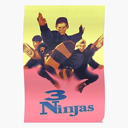 3 Ninjas Kick Back Up The Three Knuckle Regalo para la decoración del hogar Wall Art Print Poster 11.7 x 16.5 inch