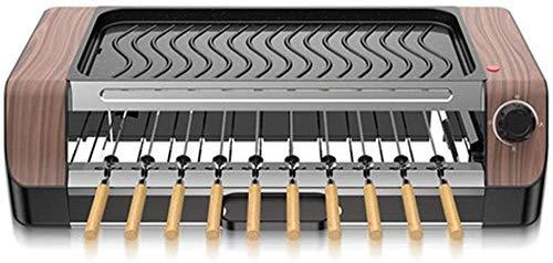 XIAOWANG Teppanyaki-Grill Haushaltsgrillplatte Grillmaschine Teppanyaki Automatische Drehgrillspieße Haushaltsrauchfreier Antihaft-Grill