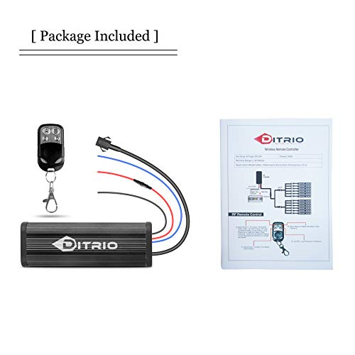 DITRIO Wireless Remote Controller & key fob chain Remote for 12V DC