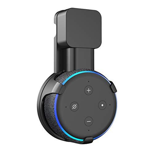 SPORTLINK Soporte Montaje en Pared para Dot (3.ª generación) Voice Assistants, Sin Cables o Tornillos Desordenados, Colgador Ahorro Espacio Enchufe en Cocina Baño y Dormitorio (Negro)