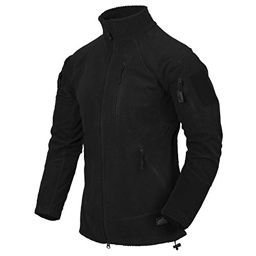 Helikon-Tex Herren Alpha Tactical-Grid Fleece-Jacke Schwarz, L/Regular