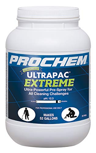 Prochem S785-1m Ultrapac Extreme Professional Carpet Cleaning Pre-Spray Powder Removes The Toughest Soils, Dissolves Fast, 6 lb Jar