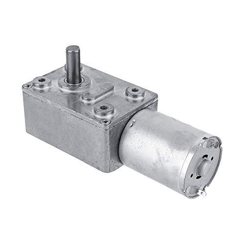 Motor reductor de gusano reversible de alto par Motor de reducción de CC 12V CW/CCW(6RPM)