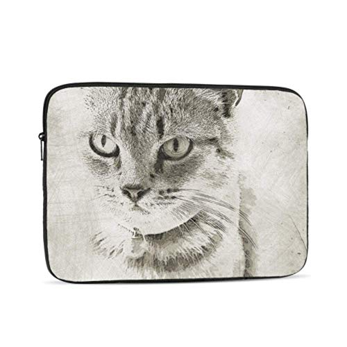 Macbook Air 11 Case Cat Pet Domestic Animal Mammal Portrait Kitty Macbook Air Protective Cover Multi-Color & Size Choices10/12/13/15/17 Inch Computer Tablet Briefcase Carrying Bag