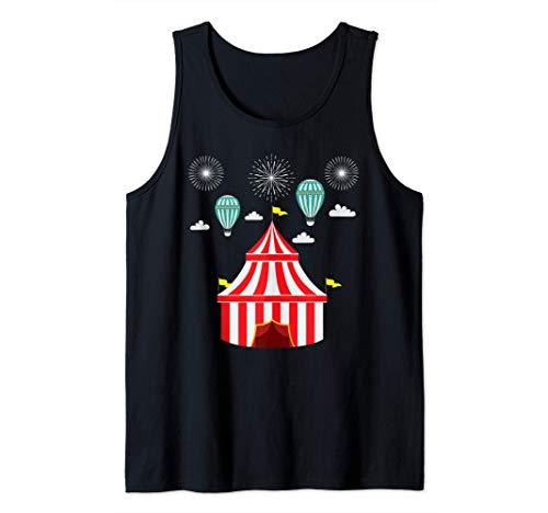 Carpa de Circo Divertida Fiesta de Carnaval Payaso Camiseta sin Mangas