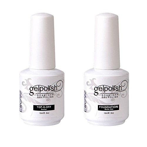 puissant Elite99 Vernis à ongles semi-permanent Gel UV Base de trempage Top Nail Art Manucure Kit 15 ml