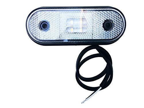 Weiß LED Begrenzungsleuchte, Umrissleuchte mit Rückstrahler für LKW Anhänger