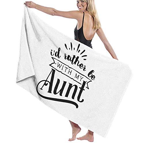 AEMAPE Ich wäre Lieber mit meiner Tante Badetuch Wrap Strandtuch Schal Bademantel...