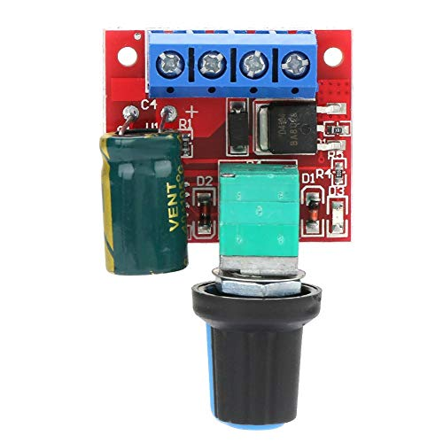 Akozon 5V-28V 5A 90W DC Motor Speed Control Switch Controller (PWM) Volt Regler LED Dimmer