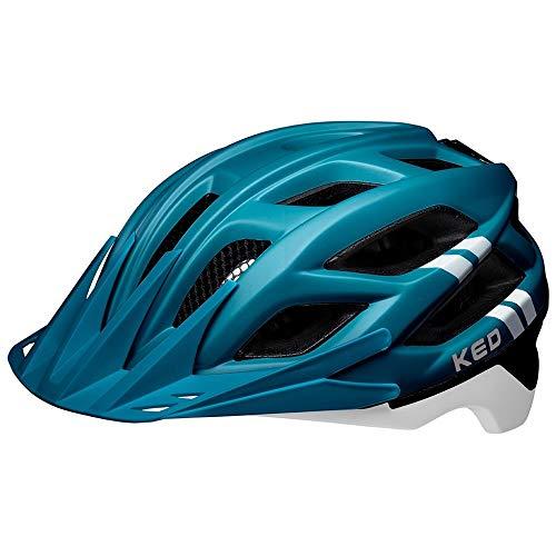 KED Companion M Blue White matt - 52-58 cm - inkl. RennMaxe Sicherheitsband - Fahrradhelm Skaterhelm MTB BMX Erwachsene Jugendliche