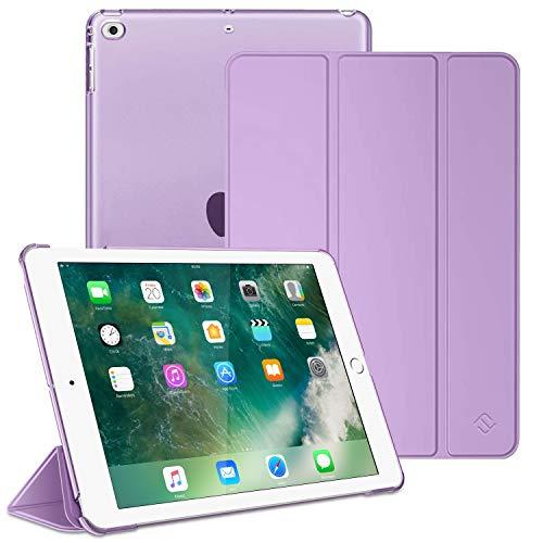 Fintie Hülle für iPad 9.7 Zoll 2018 2017 / iPad Air 2 (2014) / iPad Air (2013) - Superdünn Schutzhülle mit durchsichtiger Rückseite Abdeckung Cover mit Auto Schlaf/Wach Funktion, Lavendel