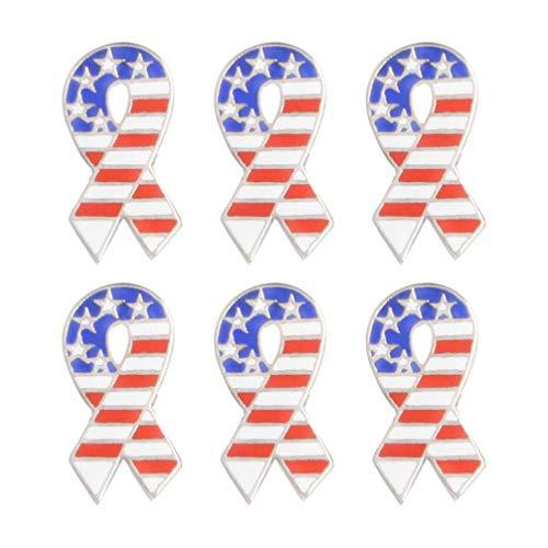 FENICAL 6 Piezas Mapa del Mundo Bandera de País Broches Elegantes Broches Pin Único Broche Accesorios de Decoración para Uso de Decoración (Xz1383)