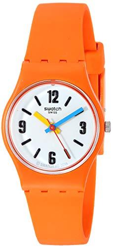 Swatch Reloj Analógico para Mujer de Cuarzo con Correa en Silicona LO114