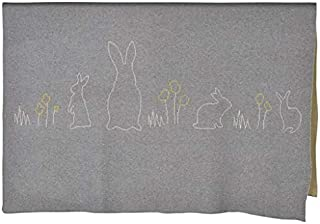 Cotton Blanket Reversible (Bunny Yellow)