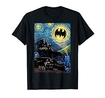 DC Comics Batman Starry Night Style Painting T-Shirt