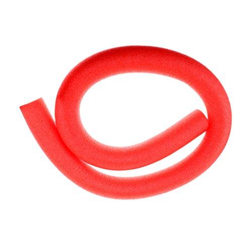 D DOLITY Flexibler Swimming Pool Nudel Schaumatoff Scherzt Erwachsene Schwimmen Nudeln Schwimmenhilfe - rot, 6 x 150 cm