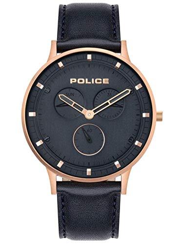 POLICE OUTLET Reloj Analógico para Hombre de Cuarzo con Correa en Cuero 1
