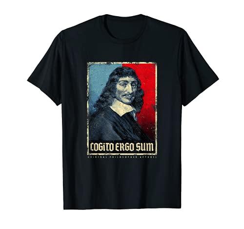 Cogito Ergo Sum René Descartes Principios Filosofía Vintage Camiseta