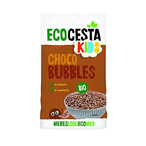 Ecocesta Choco Bubbles Ecológicas sin Lácteos Aptas para Veganos (375g)