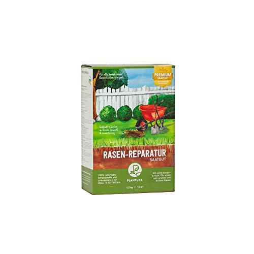 Plantura Rasen-Reparatur, 1,5 kg, Premium-Saatgut zur Rasenausbesserung, mit Dünger & Kalk