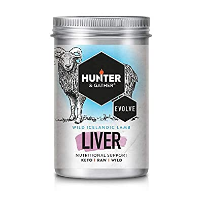 Hunter & Gather Liver, Heart & Handpicked Herb Capsules - 90 x 500 mg Capsules | Wild, Grass Fed Icelandic Lamb Nutritional Support | Raw Freeze-Dried Lamb | No GMO Feeds, Antibiotics Or Hormones