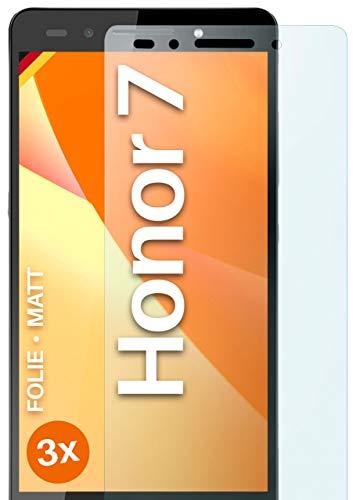 moex Schutzfolie matt kompatibel mit Huawei Honor 7/7 Premium - Folie gegen Reflexionen, Anti Reflex Bildschirmschutz, Matte Bildschirmfolie - 3X Stück