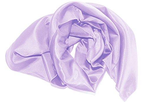 Am Laufsteg Satin-Stola (Eig) Schultertuch, zum Abendkleid oder Brautkleid, ca 140 x 46 cm, flieder