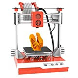 TTLIFE Mini 3D Printer for Kids & Beginners, Dual Z axis Small 3D Printer with Magnetic Plate, Fast Heating, Low Noise, Printing Size 4'×4'×4', Free 10m(L) 1.75mm(D) Testing Filament, White & Orange