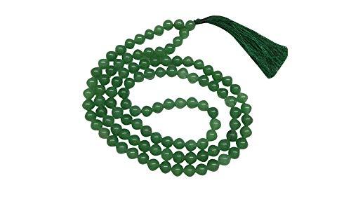 WholesaleGemShop Natural Green Aventurine Mala with 108 Prayer Beads Perfect for Meditation Spiritual Jap Mala Prayer Mala Necklace
