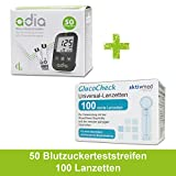 Diabetiker Vorteilspack : adia 50 Blutzuckerteststreifen